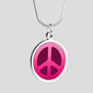Pink Fade Peace Sign Necklaces
