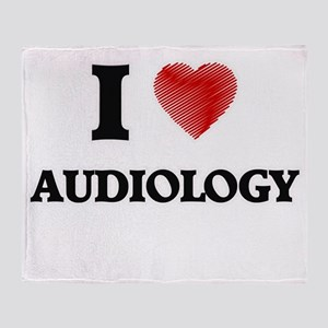 I Love Audiology Throw Blanket