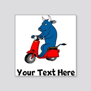 Bull On Scooter (Custom) Sticker