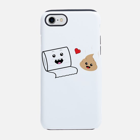 Funny Cute Besties Toilet Pa iPhone 8/7 Tough Case
