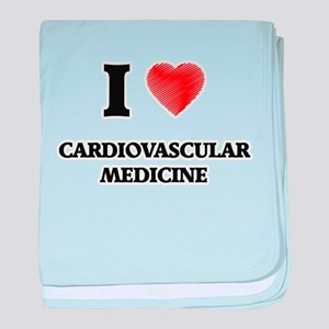 I Love Cardiovascular Medicine baby blanket