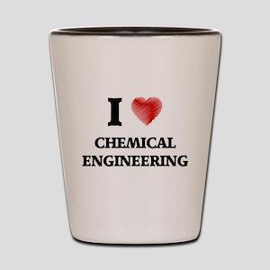 I Love Chemical Engineering Shot Glass