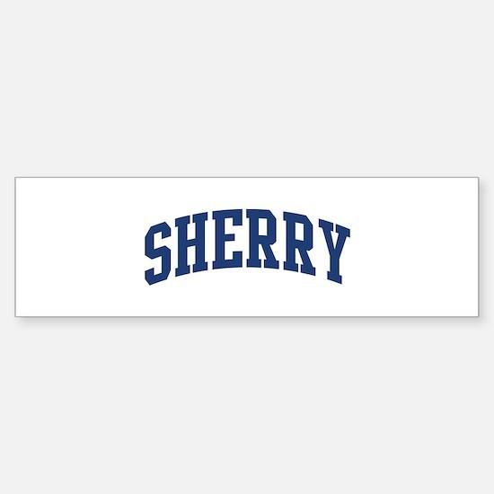 SHERRY design (blue) Bumper Bumper Bumper Sticker