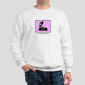 Inline Skating  (pink) Sweatshirt