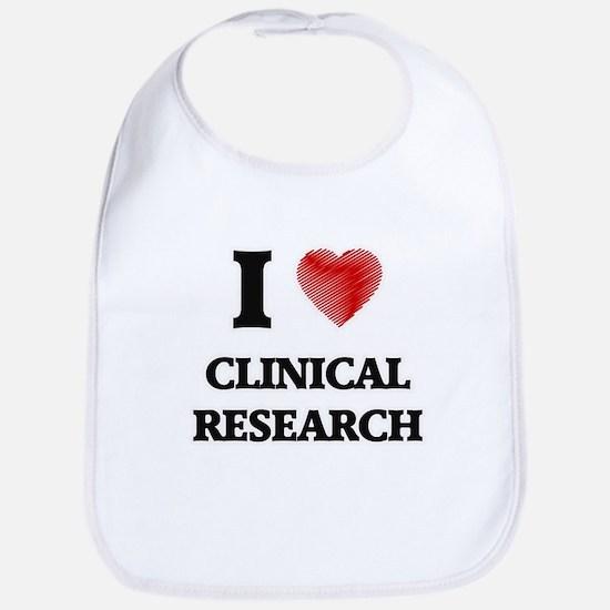 I Love Clinical Research Bib