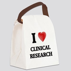 I Love Clinical Research Canvas Lunch Bag