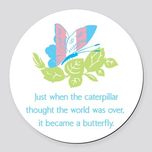 Transgender Butterfly Round Car Magnet