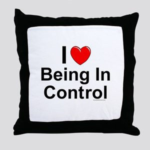 Being In Control Throw Pillow