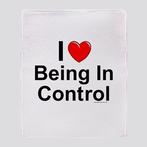 Being In Control Throw Blanket
