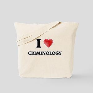 I Love Criminology Tote Bag