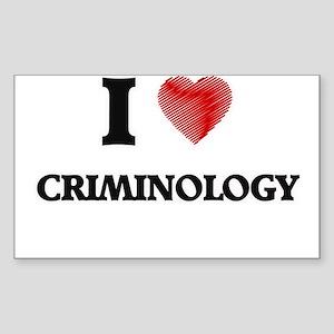 I Love Criminology Sticker
