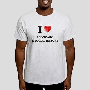 I Love Economic & Social History T-Shirt