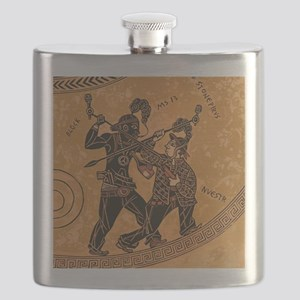 Ancient Greek Pottery painting gangsters Flask