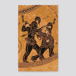 Ancient Greek Pottery painting gangsters Area Rug