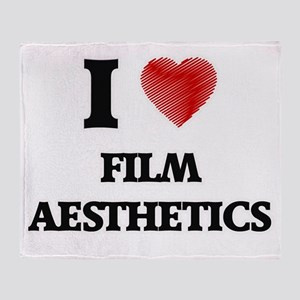 I Love Film Aesthetics Throw Blanket