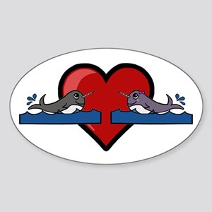 Narwhal Couple Sticker