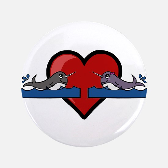 Narwhal Couple Button