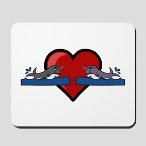 Narwhal Couple Mousepad