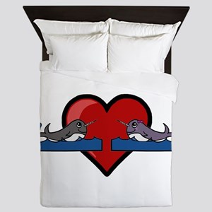 Narwhal Couple Queen Duvet
