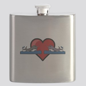 Narwhal Couple Flask