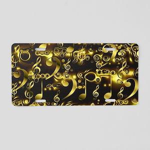 golden notes Aluminum License Plate