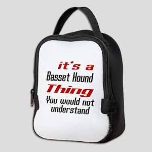 Basset Hound Thing Dog Designs Neoprene Lunch Bag