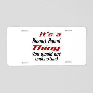 Basset Hound Thing Dog Desi Aluminum License Plate