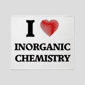 I Love Inorganic Chemistry Throw Blanket