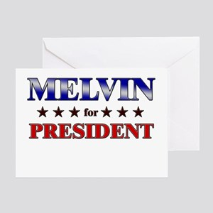 MELVIN for president Greeting Card