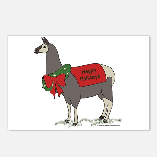 Holiday Llama Postcards (Package of 8)