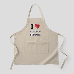 I Love Italian Studies Apron