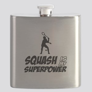 Squash Is My Superpower Flask