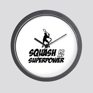 Squash Is My Superpower Wall Clock