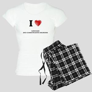 I Love Language And Communi Women's Light Pajamas
