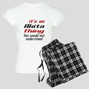 Akita Thing Dog Designs Women's Light Pajamas
