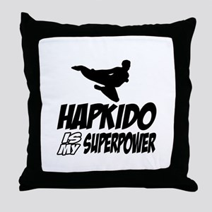 Hapkido Is My Superpower Throw Pillow