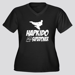 Hapkido Is M Women's Plus Size V-Neck Dark T-Shirt