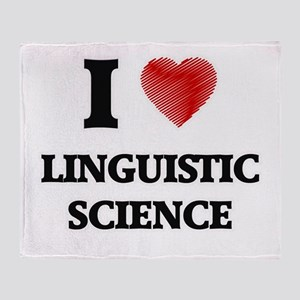 I Love Linguistic Science Throw Blanket