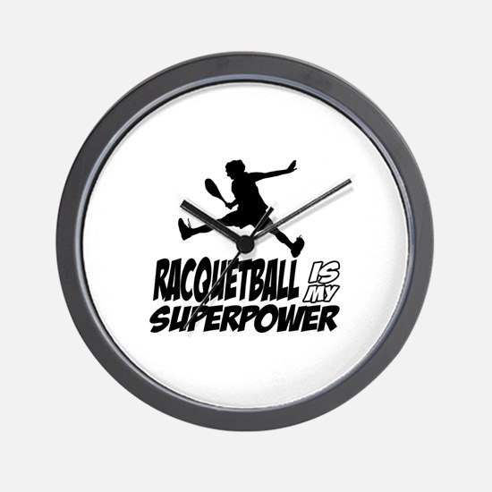 Racquetball Is My Superpower Wall Clock