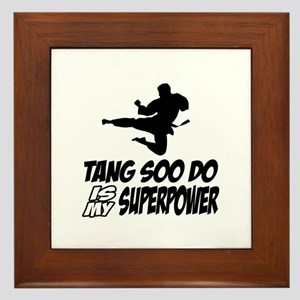 Tang Soo Do Is My Superpower Framed Tile