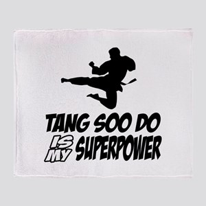Tang Soo Do Is My Superpower Throw Blanket