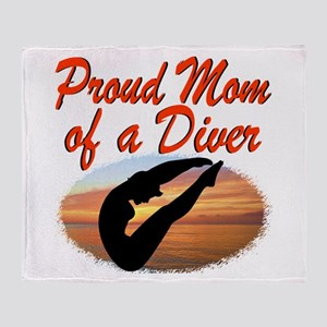 DIVER MOM Throw Blanket