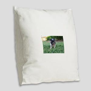 Gibbles Burlap Throw Pillow
