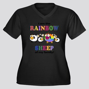 Rainbow Sheep Plus Size T-Shirt