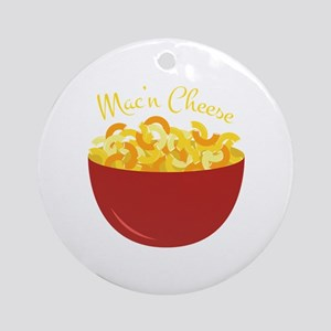 Mac N Cheese Round Ornament