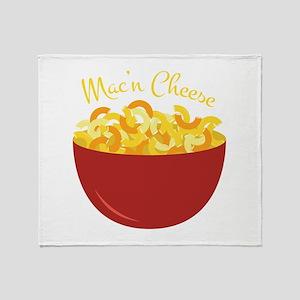 Mac N Cheese Throw Blanket