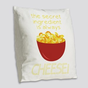 Secret Ingredient Burlap Throw Pillow