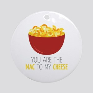 Mac To Cheese Round Ornament
