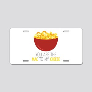 Mac To Cheese Aluminum License Plate