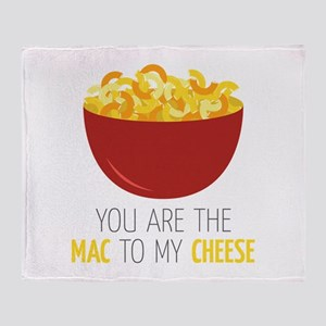 Mac To Cheese Throw Blanket